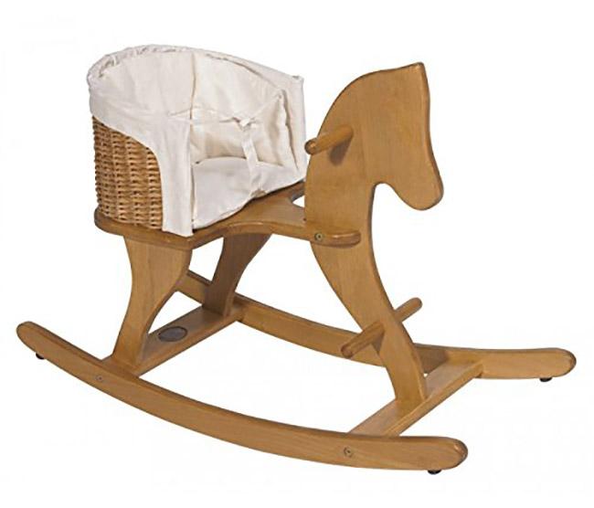Cheval en bois et rotin Moulin-Roty