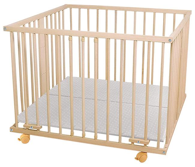 waldin parc pour bébé en hêtre