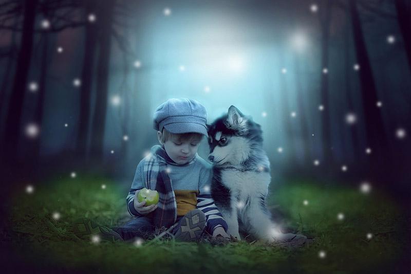 bienfaits d'un chien sur un bébé
