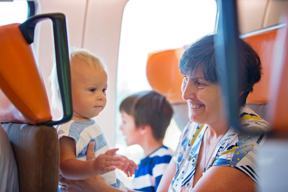 voyager en train avec bebe